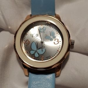 NEW Blue Butterflies Watch with Blue Band